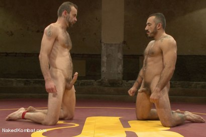 "Photo number 15 from Clayton ""Pile-Driver"" Kent vs. Alessio ""El Lobo"" Romero - The Hairy Match shot for Naked Kombat on Kink.com. Featuring Alessio Romero and Clayton Kent in hardcore BDSM & Fetish porn."
