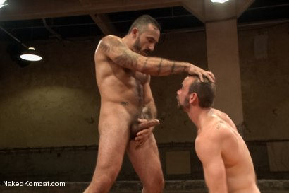 "Photo number 10 from Clayton ""Pile-Driver"" Kent vs. Alessio ""El Lobo"" Romero - The Hairy Match shot for Naked Kombat on Kink.com. Featuring Alessio Romero and Clayton Kent in hardcore BDSM & Fetish porn."
