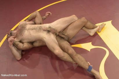 """Photo number 6 from Clayton """"Pile-Driver"""" Kent vs. Alessio """"El Lobo"""" Romero - The Hairy Match shot for Naked Kombat on Kink.com. Featuring Alessio Romero and Clayton Kent in hardcore BDSM & Fetish porn."""