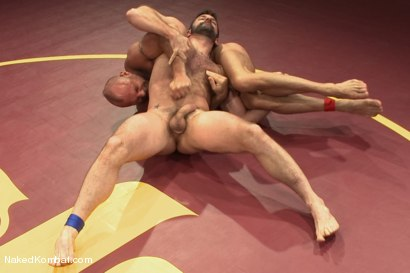 """Photo number 4 from Chad """"Bulldog"""" Brock vs Morgan """"The Attack"""" Black  Morgan's Chance at Redemption shot for Naked Kombat on Kink.com. Featuring Chad Brock and Morgan Black in hardcore BDSM & Fetish porn."""