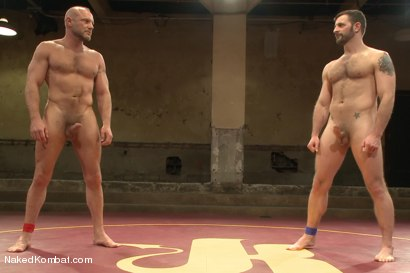 """Photo number 15 from Chad """"Bulldog"""" Brock vs Morgan """"The Attack"""" Black  Morgan's Chance at Redemption shot for Naked Kombat on Kink.com. Featuring Chad Brock and Morgan Black in hardcore BDSM & Fetish porn."""