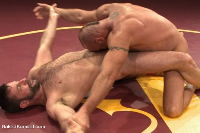 """Photo number 7 from Chad """"Bulldog"""" Brock vs Morgan """"The Attack"""" Black  Morgan's Chance at Redemption shot for Naked Kombat on Kink.com. Featuring Chad Brock and Morgan Black in hardcore BDSM & Fetish porn."""