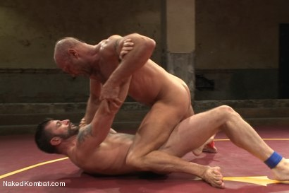 """Photo number 9 from Chad """"Bulldog"""" Brock vs Morgan """"The Attack"""" Black  Morgan's Chance at Redemption shot for Naked Kombat on Kink.com. Featuring Chad Brock and Morgan Black in hardcore BDSM & Fetish porn."""