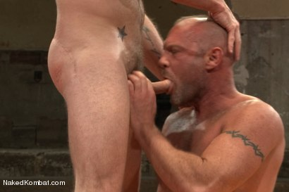 """Photo number 12 from Chad """"Bulldog"""" Brock vs Morgan """"The Attack"""" Black  Morgan's Chance at Redemption shot for Naked Kombat on Kink.com. Featuring Chad Brock and Morgan Black in hardcore BDSM & Fetish porn."""