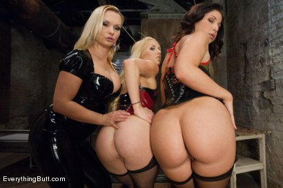 Photo number 1 from Fresh Meat Anal Whores! shot for Everything Butt on Kink.com. Featuring Katja Kassin, Holly Hanna and Mia Gold in hardcore BDSM & Fetish porn.