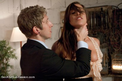 Photo number 2 from Customer Service Slut shot for Sex And Submission on Kink.com. Featuring Danny Wylde and Rilynn Rae in hardcore BDSM & Fetish porn.