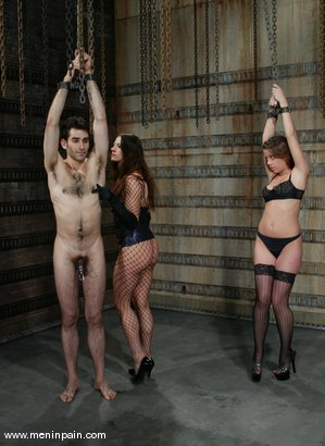 Photo number 1 from Penny Flame, Kym Wilde and Nathaniel Meadowlark shot for Men In Pain on Kink.com. Featuring Penny Flame, Kym Wilde and Nathaniel Meadowlark in hardcore BDSM & Fetish porn.