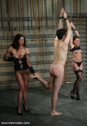 Photo number 4 from Penny Flame, Kym Wilde and Nathaniel Meadowlark shot for Men In Pain on Kink.com. Featuring Penny Flame, Kym Wilde and Nathaniel Meadowlark in hardcore BDSM & Fetish porn.