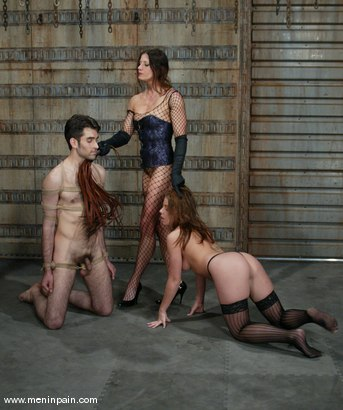 Photo number 8 from Penny Flame, Kym Wilde and Nathaniel Meadowlark shot for Men In Pain on Kink.com. Featuring Penny Flame, Kym Wilde and Nathaniel Meadowlark in hardcore BDSM & Fetish porn.