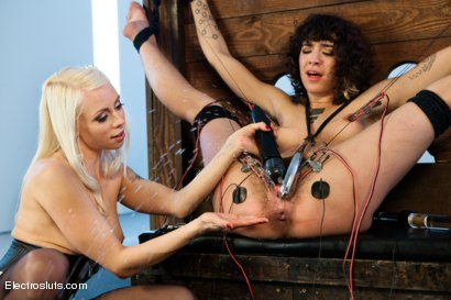 Photo number 6 from Hair Fetish Model, Bianca, is Back for intense Electrosex! shot for Electro Sluts on Kink.com. Featuring Lorelei Lee and Bianca Stone in hardcore BDSM & Fetish porn.