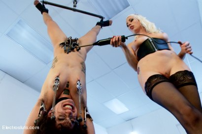Photo number 14 from Ankle Suspension test Hair Fetish Model Bianca! shot for Electro Sluts on Kink.com. Featuring Lorelei Lee and Bianca Stone in hardcore BDSM & Fetish porn.