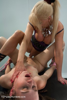 Photo number 8 from Tied Up Bonnie Made to Suck Ts Cock: A Bondage Update shot for TS Pussy Hunters on Kink.com. Featuring Joanna Jet and Bonnie Day in hardcore BDSM & Fetish porn.