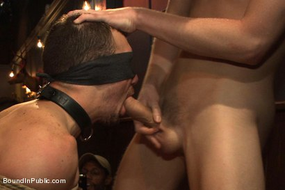 Photo number 14 from Stud in a metal cage is fucked by horny bar patrons shot for Bound in Public on Kink.com. Featuring Kirk Cummings, Jacques LaVere and Cole Streets in hardcore BDSM & Fetish porn.