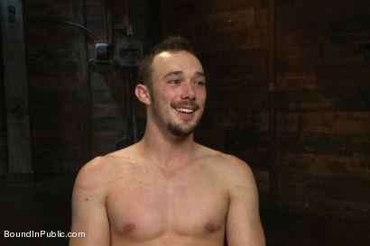 Photo number 15 from Stud in a metal cage is fucked by horny bar patrons shot for Bound in Public on Kink.com. Featuring Kirk Cummings, Jacques LaVere and Cole Streets in hardcore BDSM & Fetish porn.