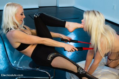 Photo number 1 from All for Lorelei's Pleasure! shot for Electro Sluts on Kink.com. Featuring Anikka Albrite and Lorelei Lee in hardcore BDSM & Fetish porn.