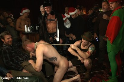 Photo number 12 from Happy Holidays! shot for Bound in Public on Kink.com. Featuring Girth Brooks, Chad Brock and Blake Daniels in hardcore BDSM & Fetish porn.
