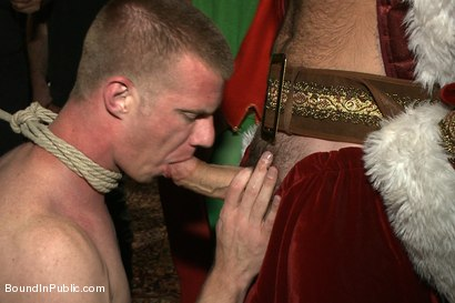 Photo number 13 from Happy Holidays! shot for Bound in Public on Kink.com. Featuring Girth Brooks, Chad Brock and Blake Daniels in hardcore BDSM & Fetish porn.