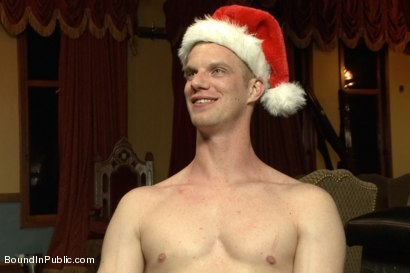 Photo number 15 from Happy Holidays! shot for Bound in Public on Kink.com. Featuring Girth Brooks, Chad Brock and Blake Daniels in hardcore BDSM & Fetish porn.