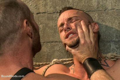 Photo number 1 from Jessie Colter welcomes Alan Ladd the new master of the house shot for Bound Gods on Kink.com. Featuring Alan Ladd and Jessie Colter in hardcore BDSM & Fetish porn.