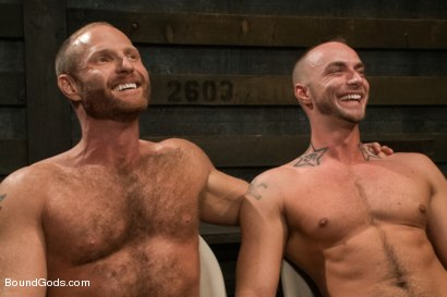 Photo number 15 from Jessie Colter welcomes Alan Ladd the new master of the house shot for Bound Gods on Kink.com. Featuring Alan Ladd and Jessie Colter in hardcore BDSM & Fetish porn.