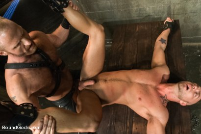 Photo number 14 from Jessie Colter welcomes Alan Ladd the new master of the house shot for Bound Gods on Kink.com. Featuring Alan Ladd and Jessie Colter in hardcore BDSM & Fetish porn.