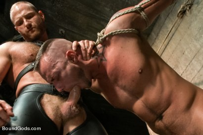 Photo number 2 from Jessie Colter welcomes Alan Ladd the new master of the house shot for Bound Gods on Kink.com. Featuring Alan Ladd and Jessie Colter in hardcore BDSM & Fetish porn.