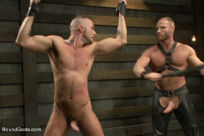 Photo number 7 from Jessie Colter welcomes Alan Ladd the new master of the house shot for Bound Gods on Kink.com. Featuring Alan Ladd and Jessie Colter in hardcore BDSM & Fetish porn.