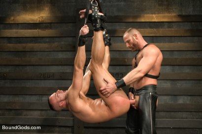 Photo number 9 from Jessie Colter welcomes Alan Ladd the new master of the house shot for Bound Gods on Kink.com. Featuring Alan Ladd and Jessie Colter in hardcore BDSM & Fetish porn.
