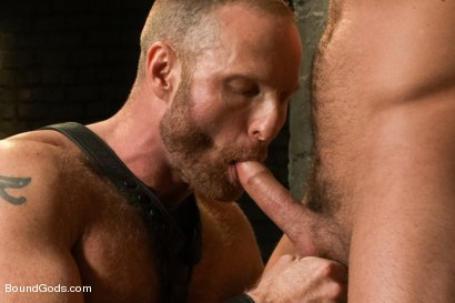 Photo number 5 from Jessie Colter welcomes Alan Ladd the new master of the house shot for Bound Gods on Kink.com. Featuring Alan Ladd and Jessie Colter in hardcore BDSM & Fetish porn.