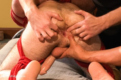 Photo number 8 from Hot Hairy Stud Tied up and Edged for first time shot for Men On Edge on Kink.com. Featuring Josh Long in hardcore BDSM & Fetish porn.