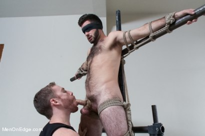 Photo number 6 from Hot Hairy Stud Tied up and Edged for first time shot for Men On Edge on Kink.com. Featuring Josh Long in hardcore BDSM & Fetish porn.