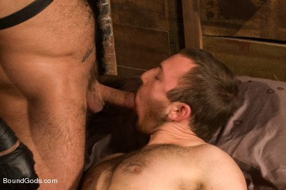 Photo number 13 from Spencer Reed last shoot before moving to Europe! shot for Bound Gods on Kink.com. Featuring Spencer Reed and     Cody Allen in hardcore BDSM & Fetish porn.