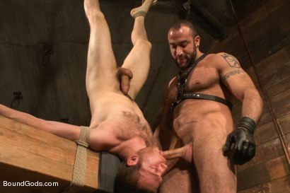 Photo number 9 from Spencer Reed last shoot before moving to Europe! shot for Bound Gods on Kink.com. Featuring Spencer Reed and     Cody Allen in hardcore BDSM & Fetish porn.