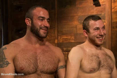Photo number 15 from Spencer Reed last shoot before moving to Europe! shot for Bound Gods on Kink.com. Featuring Spencer Reed and     Cody Allen in hardcore BDSM & Fetish porn.