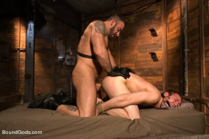 Photo number 10 from Spencer Reed last shoot before moving to Europe! shot for Bound Gods on Kink.com. Featuring Spencer Reed and     Cody Allen in hardcore BDSM & Fetish porn.