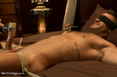 Photo number 11 from Super hunk Landon Conrad tied up and edged for the very first time shot for Men On Edge on Kink.com. Featuring Landon Conrad in hardcore BDSM & Fetish porn.
