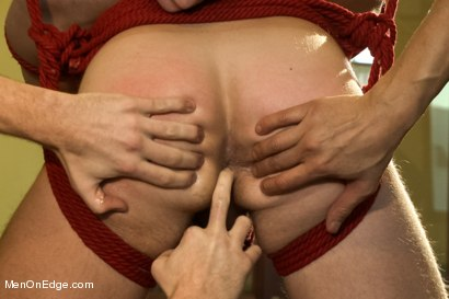 Photo number 9 from Super hunk Landon Conrad tied up and edged for the very first time shot for Men On Edge on Kink.com. Featuring Landon Conrad in hardcore BDSM & Fetish porn.