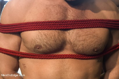 Photo number 7 from Super hunk Landon Conrad tied up and edged for the very first time shot for Men On Edge on Kink.com. Featuring Landon Conrad in hardcore BDSM & Fetish porn.
