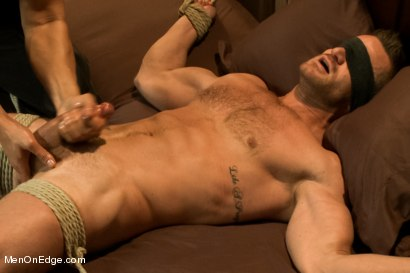 Photo number 12 from Super hunk Landon Conrad tied up and edged for the very first time shot for Men On Edge on Kink.com. Featuring Landon Conrad in hardcore BDSM & Fetish porn.