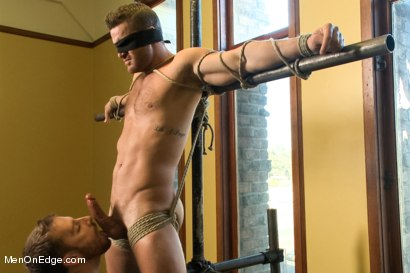 Photo number 2 from Super hunk Landon Conrad tied up and edged for the very first time shot for Men On Edge on Kink.com. Featuring Landon Conrad in hardcore BDSM & Fetish porn.