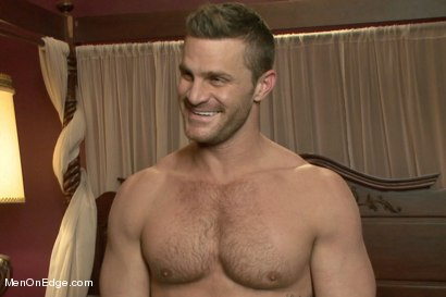 Photo number 15 from Super hunk Landon Conrad tied up and edged for the very first time shot for Men On Edge on Kink.com. Featuring Landon Conrad in hardcore BDSM & Fetish porn.