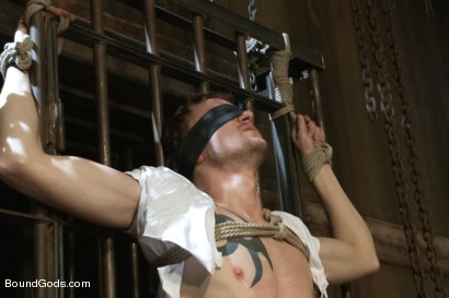 Photo number 2 from Perverted Leather Daddy and His Helpless Captive shot for Bound Gods on Kink.com. Featuring Adam Herst and Cole Brooks in hardcore BDSM & Fetish porn.