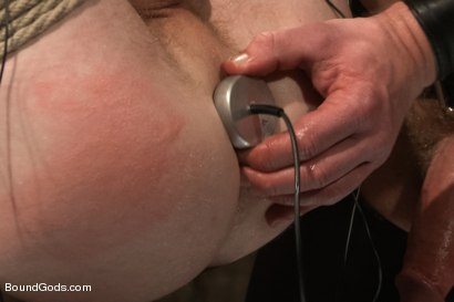 Photo number 10 from Perverted Leather Daddy and His Helpless Captive shot for Bound Gods on Kink.com. Featuring Adam Herst and Cole Brooks in hardcore BDSM & Fetish porn.