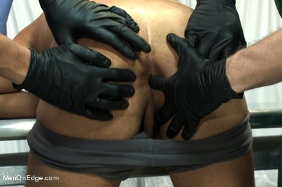 Photo number 1 from Carter West is medically examined and edged by two perverts shot for Men On Edge on Kink.com. Featuring Carter West in hardcore BDSM & Fetish porn.