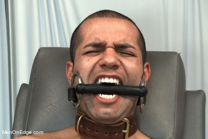 Photo number 14 from Carter West is medically examined and edged by two perverts shot for Men On Edge on Kink.com. Featuring Carter West in hardcore BDSM & Fetish porn.