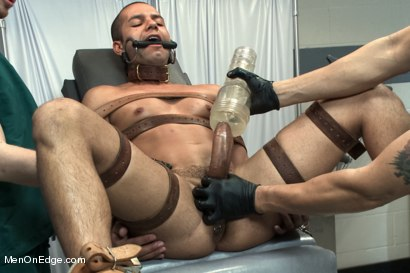 Photo number 10 from Carter West is medically examined and edged by two perverts shot for Men On Edge on Kink.com. Featuring Carter West in hardcore BDSM & Fetish porn.