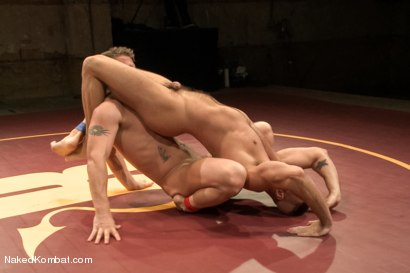 """Photo number 7 from Jessie """"Cut-Throat"""" Colter vs Jeremy """"Stonewall"""" Stevens  <br /> The Muscle Match! shot for Naked Kombat on Kink.com. Featuring Jeremy Stevens and Jessie Colter in hardcore BDSM & Fetish porn."""