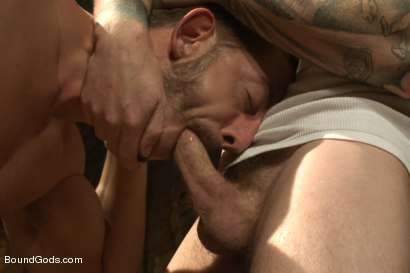 Photo number 5 from Farmer Christian Wilde and The Sleazy City Slicker  shot for Bound Gods on Kink.com. Featuring Christian Wilde and Bryan Cole in hardcore BDSM & Fetish porn.