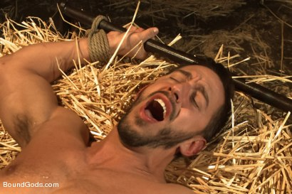 Photo number 10 from Farmer Christian Wilde and The Sleazy City Slicker  shot for Bound Gods on Kink.com. Featuring Christian Wilde and Bryan Cole in hardcore BDSM & Fetish porn.