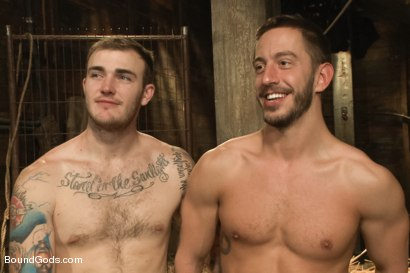 Photo number 15 from Farmer Christian Wilde and The Sleazy City Slicker  shot for Bound Gods on Kink.com. Featuring Christian Wilde and Bryan Cole in hardcore BDSM & Fetish porn.